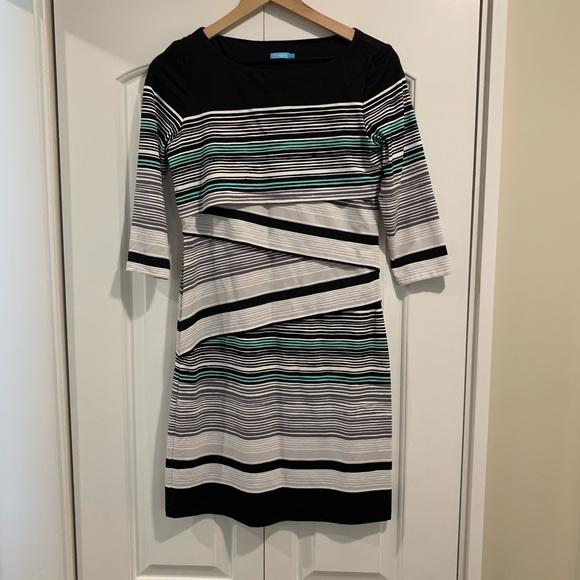 J. McLaughlin Nicola Tiered Striped Dress SMALL